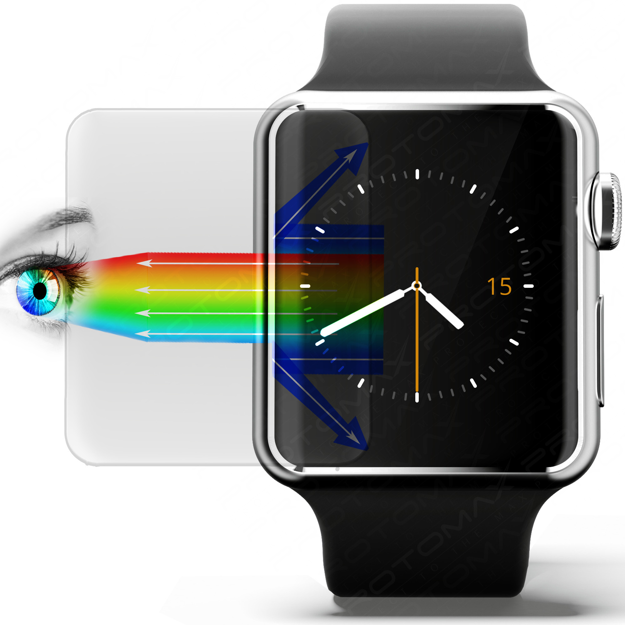 Apple Watch Displayschutzfolie (3er Pack) | PROTOMAX
