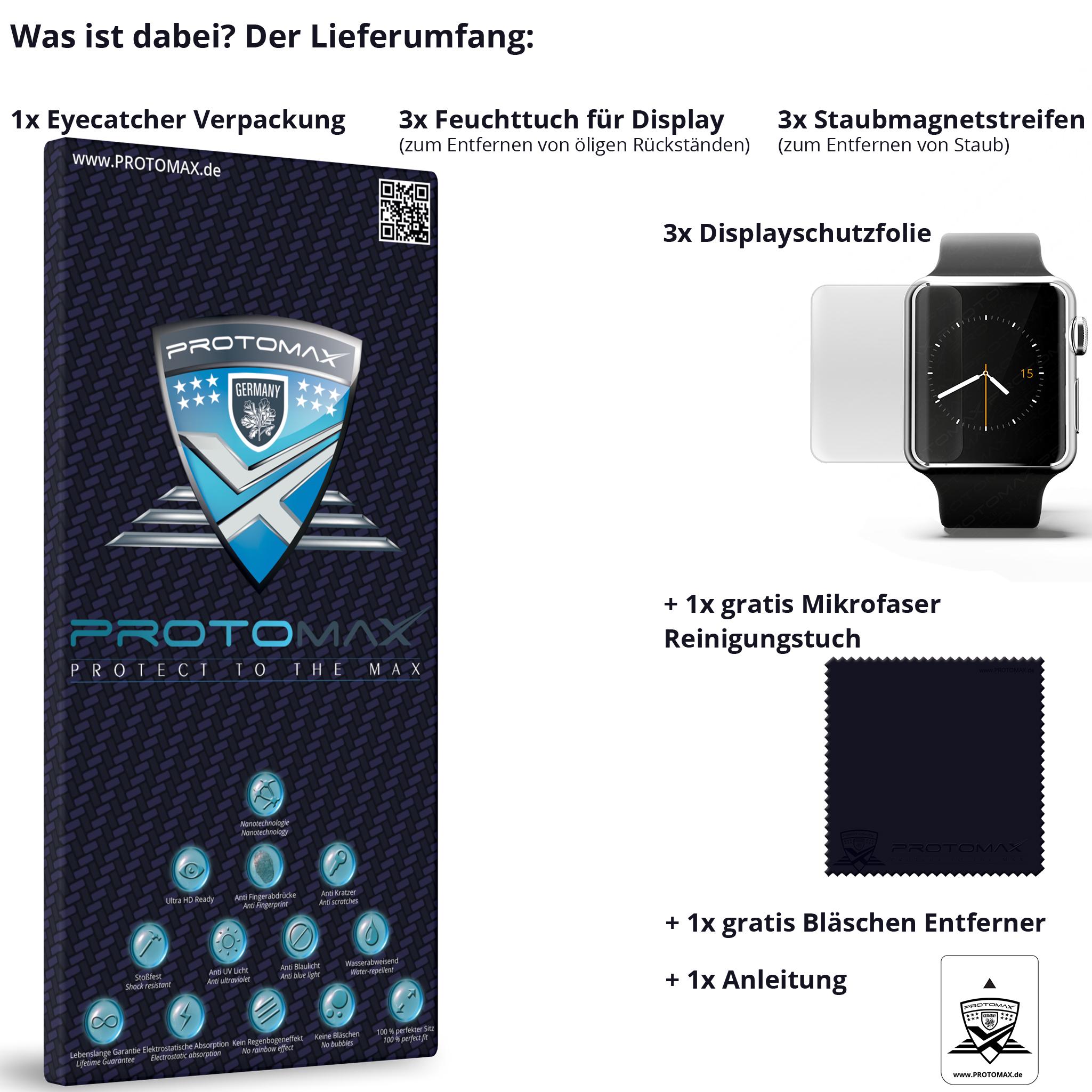 displayschutzfolie apple watch sport protomax. Black Bedroom Furniture Sets. Home Design Ideas